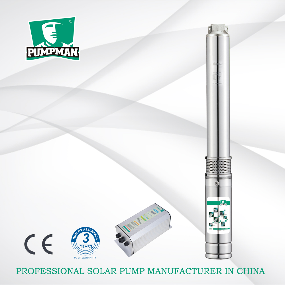 PUMPMAN 4TSC 1500W big flow rate 3 years warranty solar submersible water pump borehole pump
