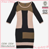 autumn/fall knit designer pencil dresses for middle aged woman