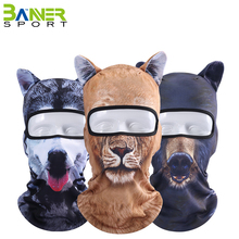 Multipurpose 3D animals printed face mask sports cycling hiking balaclava party Halloween costume