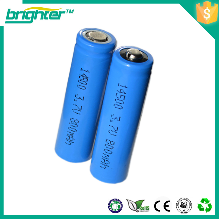 14500 battery 3.7v 750mah rechargeable good quality
