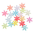Acrylic Spacer Beads Christmas Snowflake At Random About 14mm x 12mm