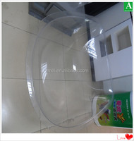 Custom made vacuum formed transparent PC bath tub
