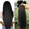 8A Grade Unprocessed Virgin Brazilian Hair Straight and deep wave 2 pcs lot