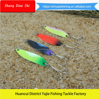 Free Samples !!! Artificial Lures Direct from China Factory Fishing Tackle Metal Casting Spoon Lures