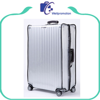 Waterproof Transparent Luggage Cover, Zipper Clear PVC Luggage Cover