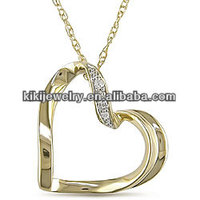 New Fashion Design Magnetic 14K Gold Plating Thin Chain Elegant Heart Necklace