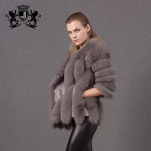 italian style most soft and fashion fox real fur winter coat for women