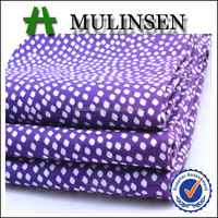 Mulinsen Textile High Quality White Polka Dot Patterned 40S Poplin 100% Cotton Printed Woven Fabric for Garment