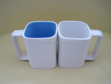 square ceramic mugs with square handle , square handle mugs special shape coffee mugs