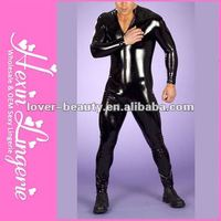 Wholesale fishnet Sexy latex men bodystocking