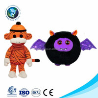 2015 New product halloween day gift party cheap wholesale stuffed soft plush bat monkey halloween toy