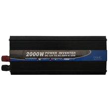 Modified Sine Wave 12 24 Volt DC to 220 110 Volt AC 2000W Home Inverter