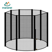 Mzone spare part accessory 8ft 10ft 12ft 14ft round replacement polyethylene mesh enclosure trampoline safety net for trampoline