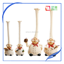 2015 hot christmas resin cook toy, popular cook resin craft for decoration zhiya factory