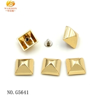 High quality various color elegant metal decoration pyramid rivets for leather bags