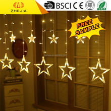 led landscape light colorful/red personalized christmas ornaments star curtain light outdoor christmas icicle light