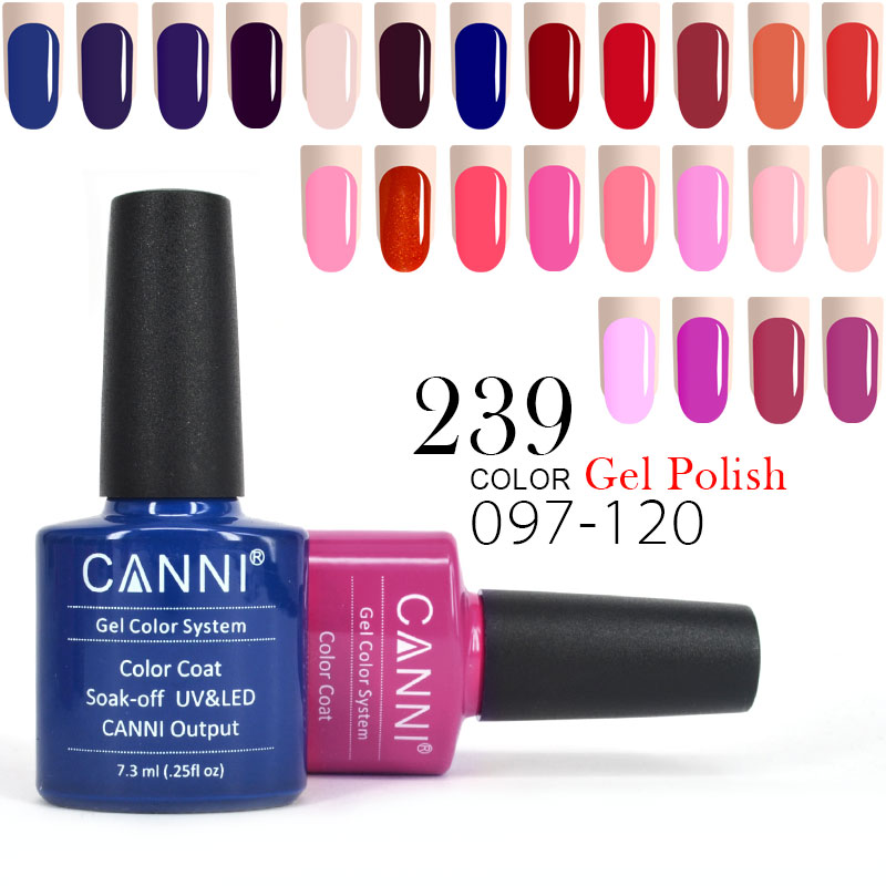 #30917J New color hot sale 239 colors 7.3ml names canni nail art gel nail polishes