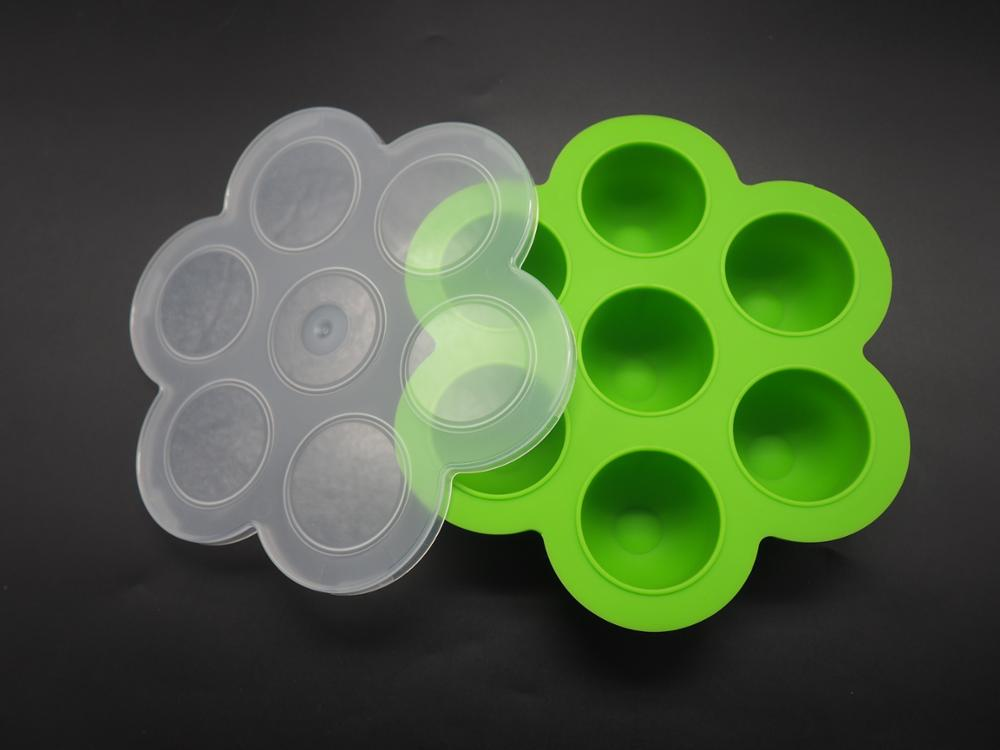 FDA approved silicone baby food storage container, baby food storage freezer tray