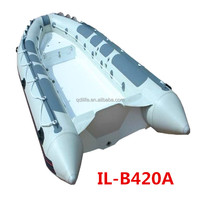 14ft/4.2m Best price rigid hull inflatable military boat rib for sale