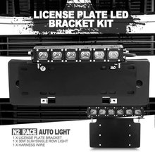 Professional Car Front License Plate Installation LED Lights Bracket Support 11inch square light bar
