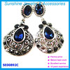 Fashion women earring crystal earring jewelryblue gemstone earring