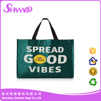 Clear Printed Woven PP Tote Bag for ladies