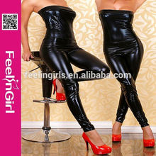Professional Slimming Girl Hot Open Sexy Latex Catsuit Dress