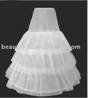 2011 new style white wedding dress petticoat