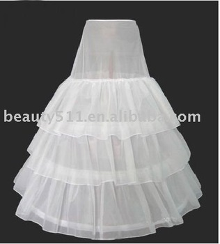 2011 new style white wedding dress petticoat