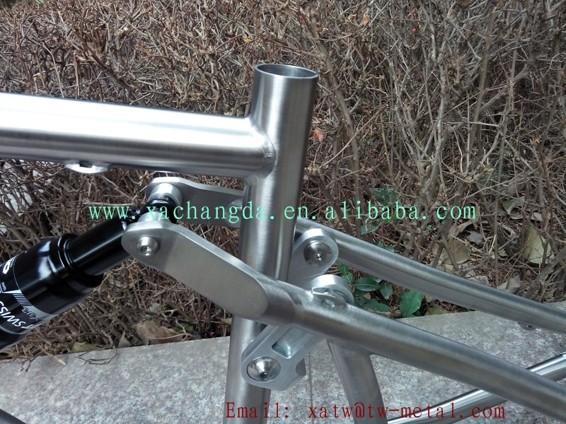 2017 new design Ti suspension bike frame Titanium full suspension bike frame Full suspension bike custom