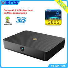 Quad Core Android Google 4.4.4 Smart TV Box XBMC Network Media Player Full HD 1080P WIFI HDMI XBMC YOUTUBE Netflix Skype video