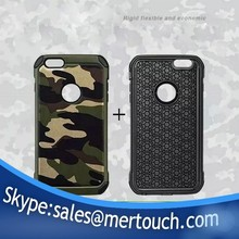 Hard PC Soft TPU 2 in 1 Armor Hybrid Camouflage Case for iphone 6 plus with retail package