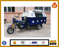 South America tipping sanitation tricycle for garbage three wheeled motorcycle for sale