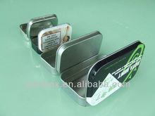 mini metal rectangle chewing gum packaging tin box