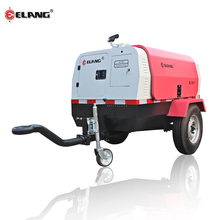 Oil Lubricated Mobile Air Diesel Compressor Machine