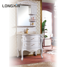 bathroom cabinet vanity hotel motel vanity high density pvc knock downnity table with lighted mirror makeup mirro