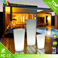 Glow flashing Design decorative outdoor garden illuminated led lighted planter pots