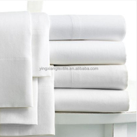 200 thread counts white bed sheets for hotels and hospitals