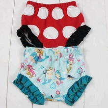 Adorablekids Fashion Underclothes Boutique Kids Clothing Girls Mermaid Bloomers Comfortable Baby Ruffle Underwear