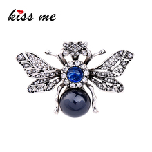 Resin Rhinestone Bee Brooch Alloy Vintage Insect Brooches for Women