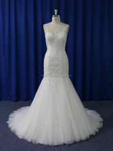 Illusion lace neck spanish style designer wedding dresses made in china