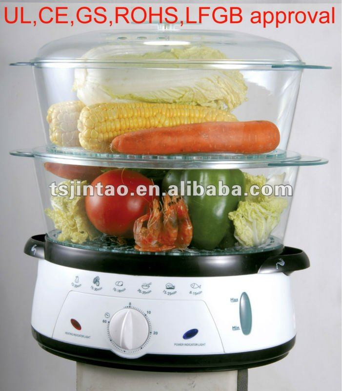 UL approval electrical 2 layer food steamer steam cooker