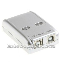 2013 NEW USB 2.0 2 Port Hub Manual Sharing Switch for PC Printer
