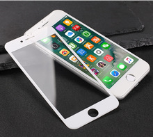 In stock !9H 2.5D tempered glass hard side fingerprint resistant cellphone screen protector for iphone 8 with retail packing