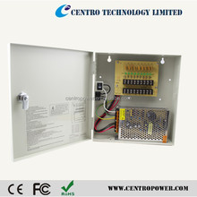 Video Security Key Lock 9 Output 12 V DC CCTV Distributed Power Supply Box for Security Camera