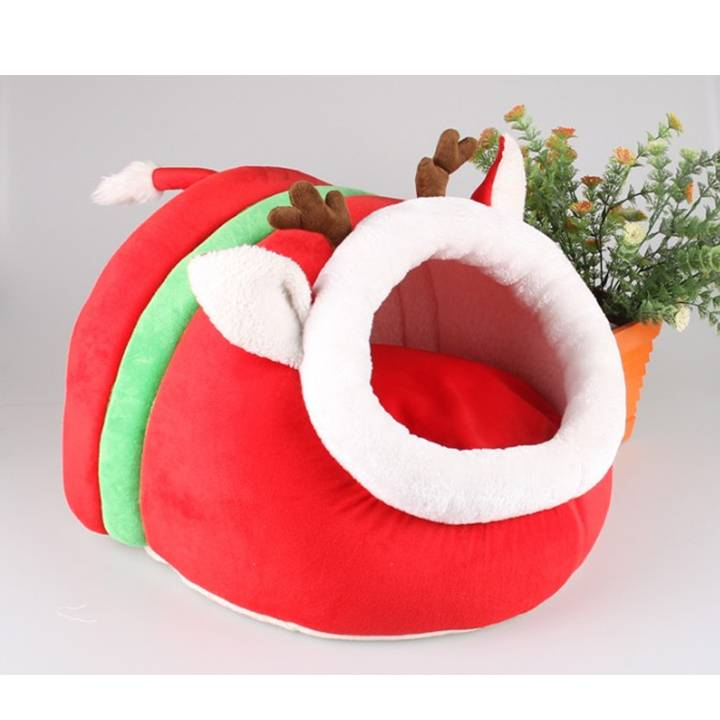 Christmas Pet Sleeping Bag Dog Cave Bed
