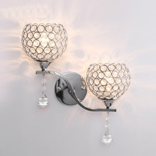 luxury European hotel living room light crystal wall sconce lamp with pull switch crystal wall lamp