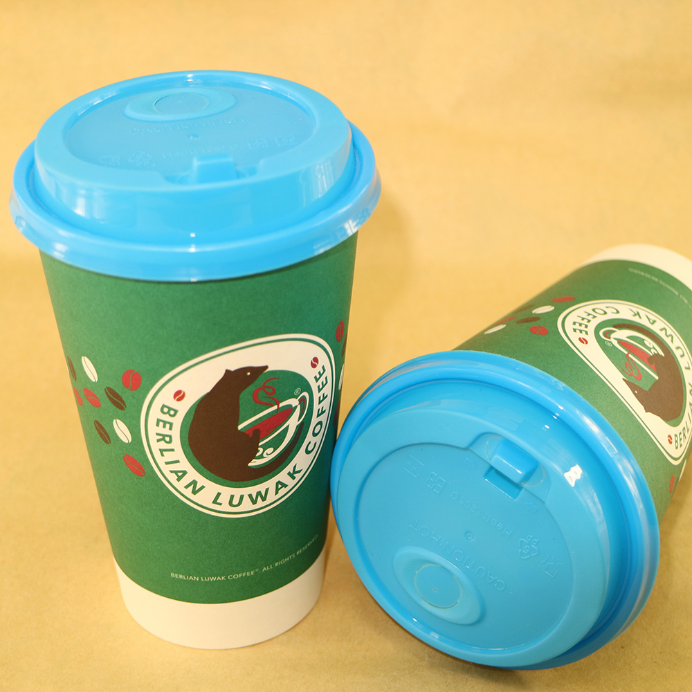 90mm PP Blue Plastic Cup Lid for Hot Cold Drink