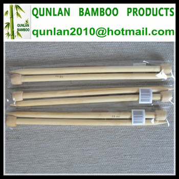 Eco-friendly Single Pointed Bamboo Knitting Needles