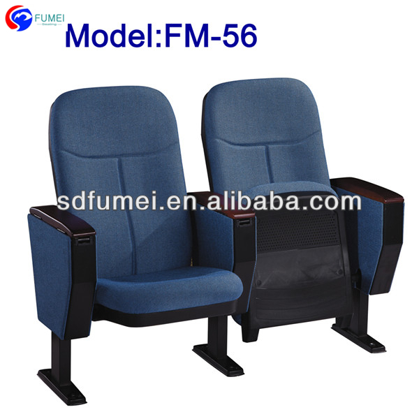 FM-56 English movies wood church chair theater seat